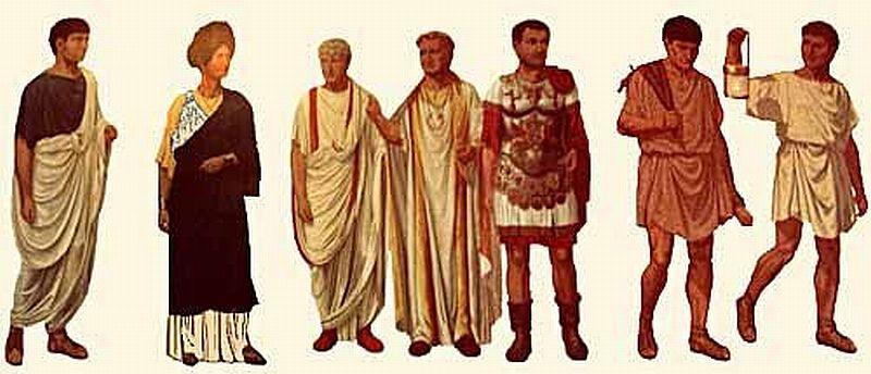 Древние римские одежды
